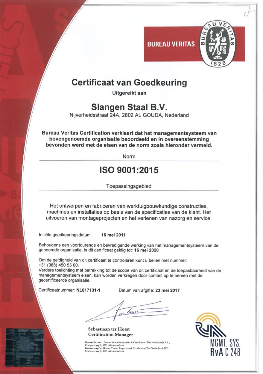 slangenstaal-certificaat-iso9001