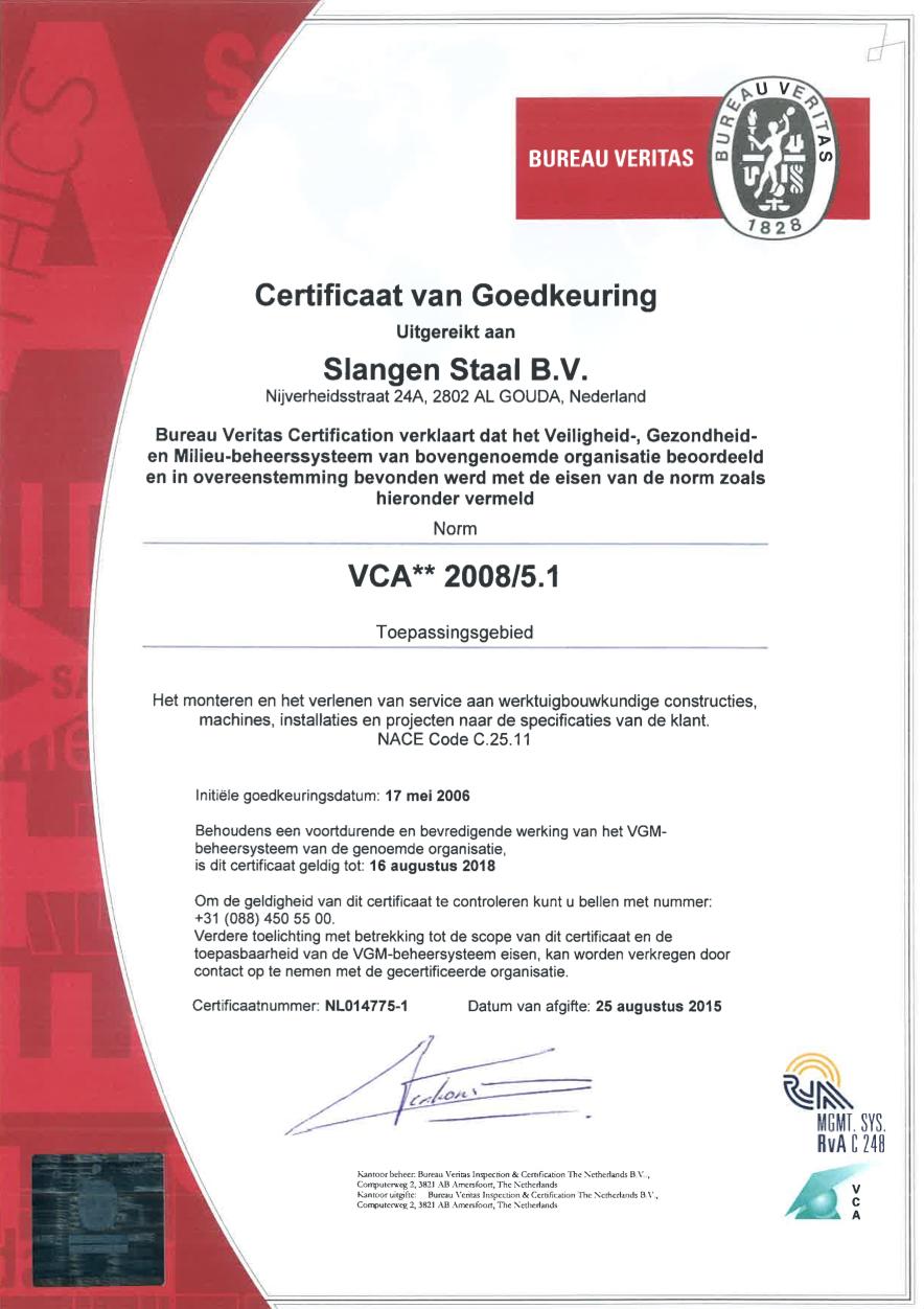 slangenstaal-certificaat-vca2008
